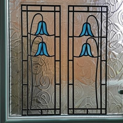 Stained Glass Bluebell Windows