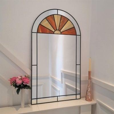 Sunburst Deco Arch Miror