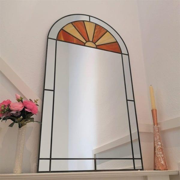 Art Deco Sunburst Arch Mirror