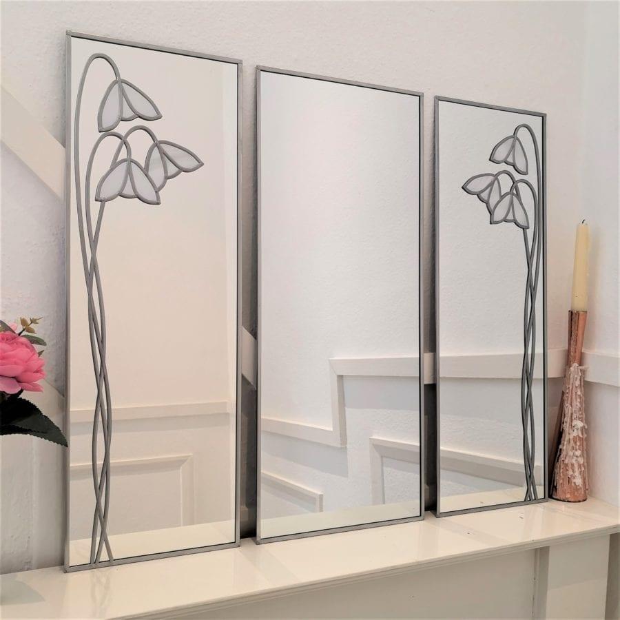 Mackintosh Snowdrop Triptych Mirror