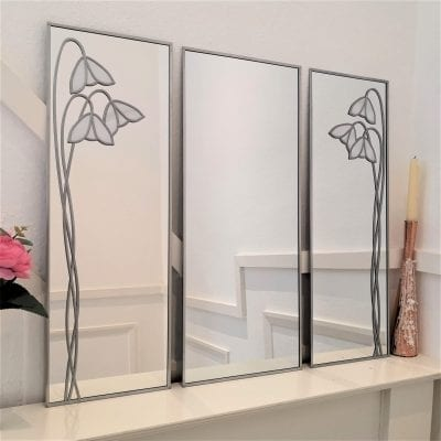 Mackintosh Snowdrop Triptych Mirror