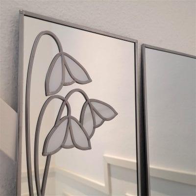 ackintosh Snowdrop Triptych Mirror