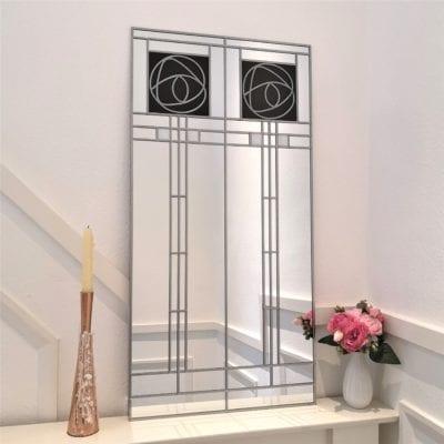 Large Mackintosh Rose Mirror