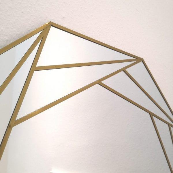 Art Deco Octagon Mirror (brass lead)